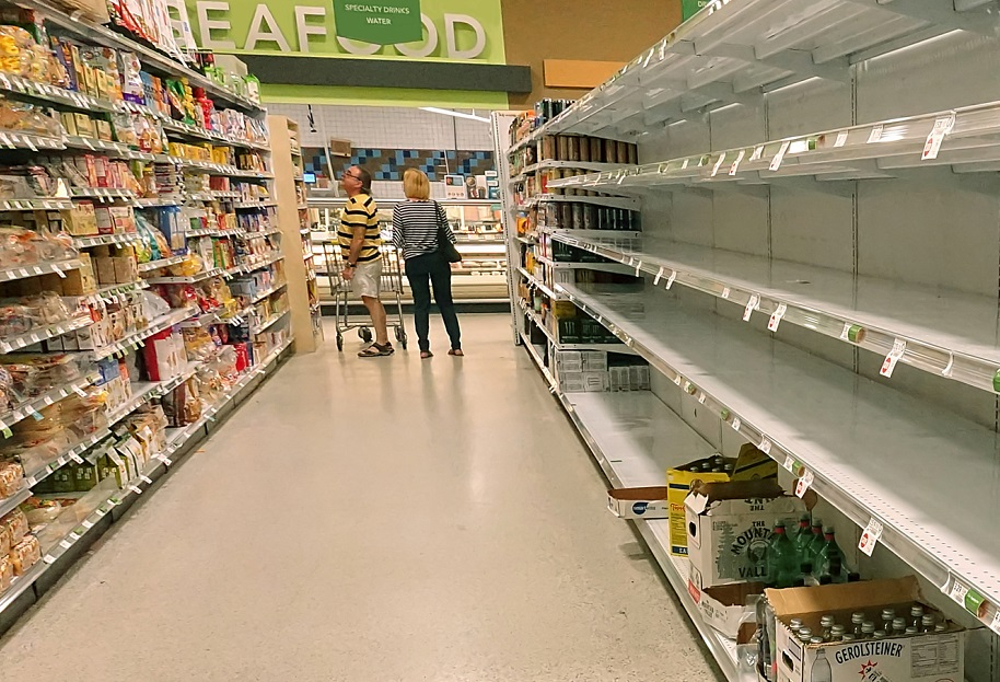 out of stock supermarket
